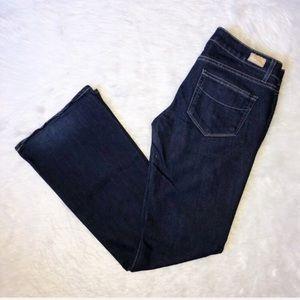 Paige laurel canyon dark wash flare jeans 27 short